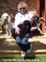 Loraine & her poodle kids